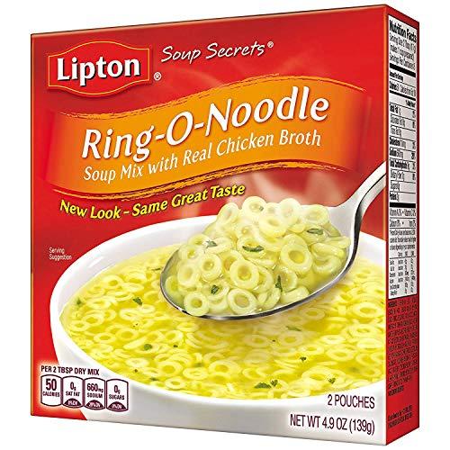 Lipton Soup Secrets Instant Soup Mix Ring-O-Noodle 4.9 oz, Pack of 12