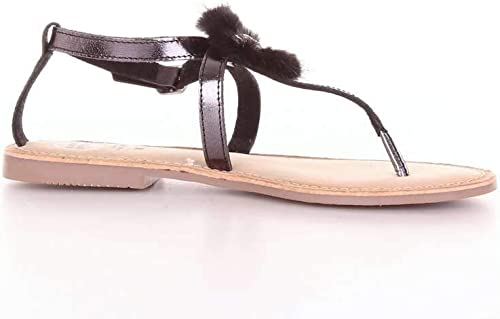 Gioseppo 45329schwarz - Sandalias de Piel para damen, Farbe schwarz