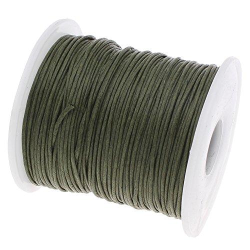My-Bead Wachsschnur Baumwollschnur gewachst 90m x 1mm Khaki grün Top Qualität Schmuckherstellung basteln DIY