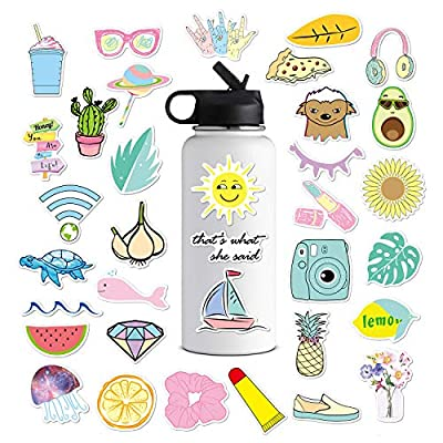 Cute VSCO Stickers for Water Bottles, Big 35-Pa...
