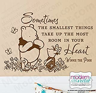 Classic Winnie the Pooh Quote Vinyl Wall Decal V4