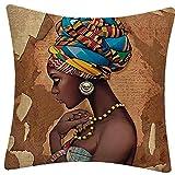 1pc Kopfkissenbezug Afrika Schöne Frauen-Linie Kissen Leinenbaumwollder Couch Kissenbezug Dekokissen Dekoration Abdeckung Für Auto-Sofa Wohnkultur