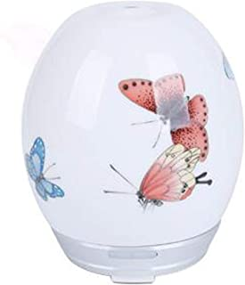 Essential Oil Diffuser 100ml Humidifier Air Purifier Ceramics 7 Color LED Night Light Adjustable Mist Mode Waterless Auto-Off for Home Yoga Office Spa Bedroom Baby Room Rexxar-303, Butterfly Pattern c