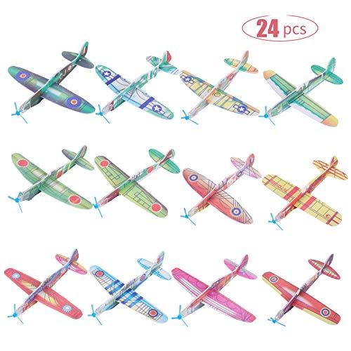 FORMIZON 24 Stück Styropor Flugzeuge für Kinder, Gleitflugzeuge Styroporflieger, Flugzeuge zum Werfen Wurfgleiter Fliegen Modell Spielzeuge Handstart für Kindergeburtstag Gastgeschenke, Draußen