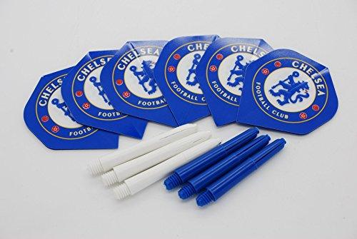Bullydarts Chelsea FC Dartpfeile-Set in Standardform, Flights und Schäfte, 2 flights / 2 stems, short - 36mm