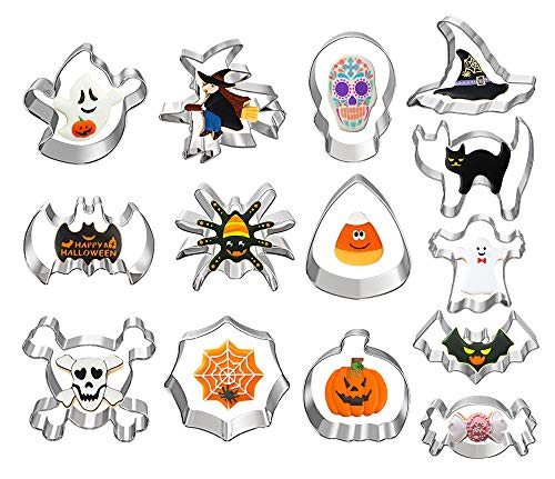Halloween Cookie Cutters, Ouddy 14 Pcs Holiday Cookie Cutters for...
