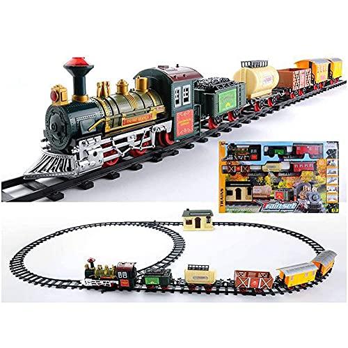 Tastak Juego de Trenes de Juguete de Navidad, Juego de Trenes Vías...