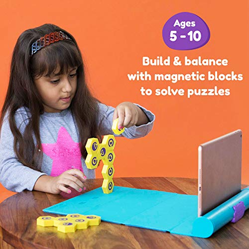 Plugo Link by PlayShifu - STEM Puzzles Kit   Fun Magnetic Building Blocks   Educational Toy Gift for Boys & Girls Ages 5 - 10 (App Based)