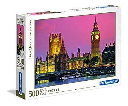 Clementoni-Los Pingüinos De Madagascar Puzzle 500 Piezas Londres, 5+ (303786)