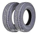 FREE COUNTRY Set 2 Premium Trailer Tires ST225/75R15 10PR Load Range E Radial w/Scuff Guard