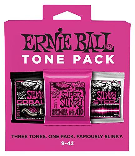 Ernie Ball Super Slinky E-Tone Pack - 9-42 Gauge