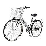 Bicicleta de 26 pulgadas, bicicleta de la ciudad de 160 cm, luz de bicicleta, marcha de 21 velocidades, bicicleta de la ciudad de las señoras, bicicleta para mujer, comodidad, bicicleta, retro, mujer,