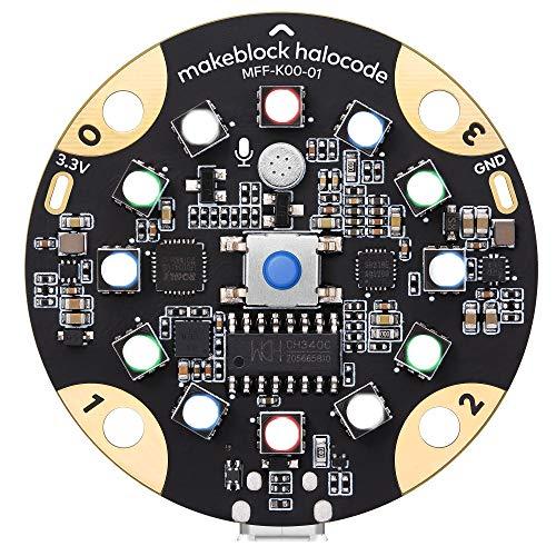 Makeblock Halocode Scheda di Programmazione, Computer Programmabile Tascabile a Scheda Singola con Wi-Fi Integrato per i Bambini per Imparare Nozioni di Base sulla Codifica, Applicazioni AI & IoT
