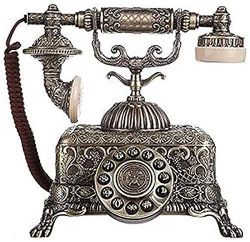 Réplica de teléfono clásico Vintage Retro, teléfono de Estilo Antiguo, dial Giratorio, teléfono Fijo, teléfono con Cable Antiguo para el hogar
