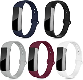 NAHAI Bands Compatible with Fitbit Alta HR/Fitbit Alta for Women Men, 5 Packs Soft Silicone Replacement Sport Strap Wristbands Accessories for Fitbit Alta, Large Small