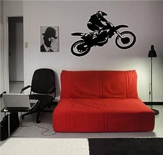 Motocross Dirt Bike Wall Decal Sticker Boys Room Nursery Idea Kid Decor Wall Decal Art Vinyl Sticker m563