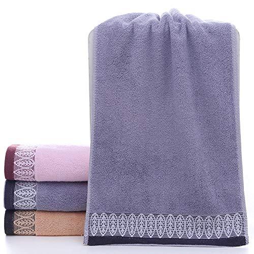 Fuduoduo Toallas de algodón orgánico,Toalla Suave Lisa de algodón Puro 33 * 73-Gris 3 Piezas,Toalla De BañO del AlgodóN del Hogar