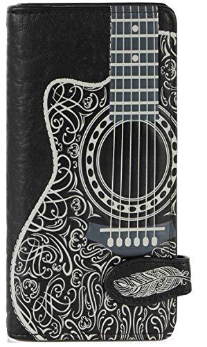 Shagwear portafoglio per giovani donne, Large Purse : Diversi colori e design: (chitarra/guitar)