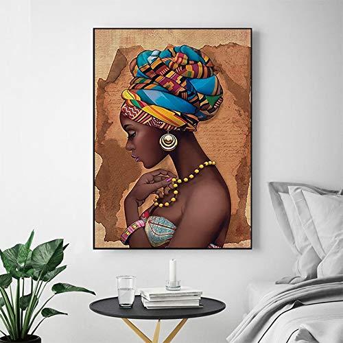 Geiqianjiumai Mutu Afrikaanse muurkunst single frame woonkamer canvas modern paard hoogwaardige poster en afdrukken frameloze schilderijen