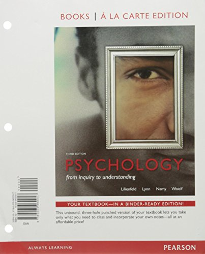 Psychology: From Inquiry to Understanding, Books a la Carte Edition; Forty Studies that Changed Psychology; NEW MyLab Ps