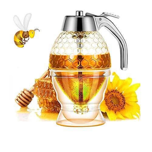 Honigspender Sirupspender Wunderschöne Honigwaben Honigglas Honigglas mit Ständer