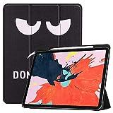 ASDL Smart Tablet Case for iPad Pro 12.9 Pulgadas (versión 2018, 3ra generación) con Reposo automático/activación, Owl Butterfly Flower Dandelion Torre Eiffel Diseño Protector Trasero