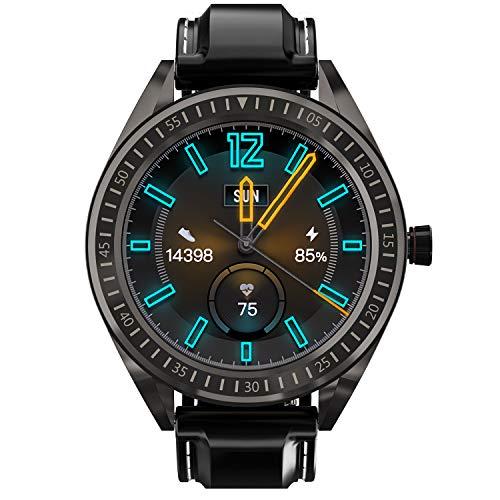 COULAX Smartwatch, GPS Smart Watch mit 1,3 Zoll Touchscreen, Aktivitäts Tracker mit Herzfrequenz Schrittzähler, IP68 wasserdichte Sportuhr für iOS Android