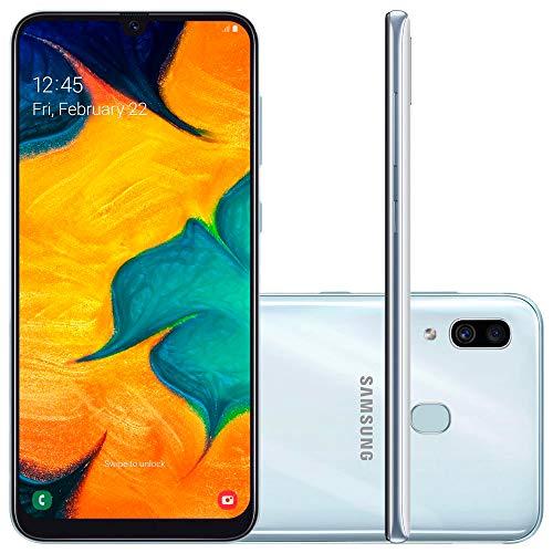 Smartphone Samsung Galaxy A30, 64Gb, Tela 6.4'', Branco, Sm-A305Gzwbzto