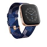 Fitbit Versa 2 - Smartwatch de salud y forma física, Textil en azul marino y rosa (Edición Especial), con Alexa integrada