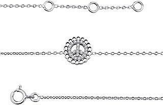 Altesse [M5854 - Catena della Caviglia Argento 'Peace' Bianco.