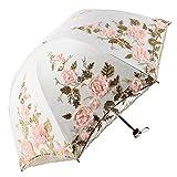 Honeystore Lace Parasol Decoration Bridal Shower Vintage Umbrellas for Wedding 1821 Beige