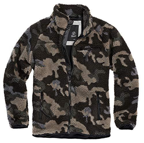 Brandit Teddyfleece Jacket, darkcamo, Größe L
