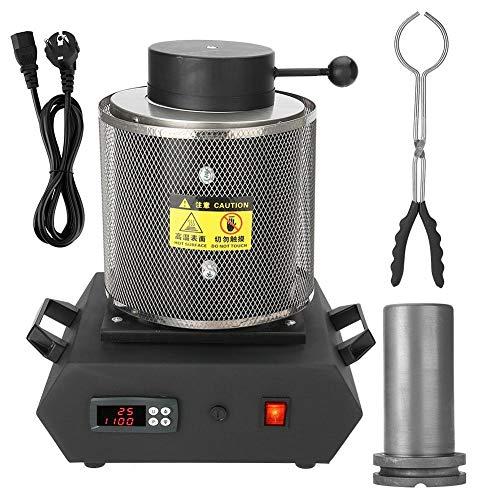 1KG/2KG macchina per fonderia automatica digitale forno di fusione elettrico per gioielli in metallo oro versare Bar 1400 W 1100 ℃(2 kg, 220 V UE)