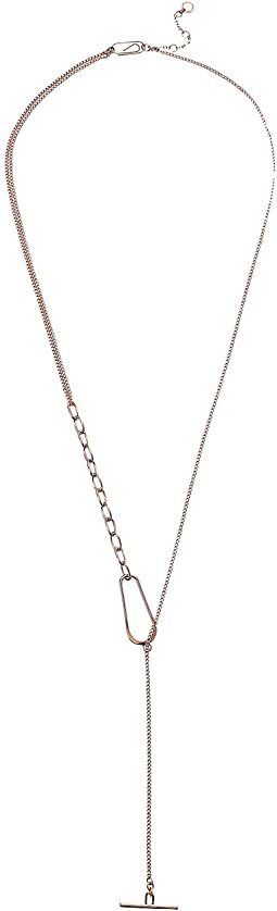Link Lariat Necklace 28""