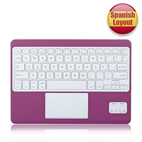 CoastaCloud- QWERTY Español Delgado Teclado Bluetooth con una Función de Multi- touchpad y...