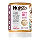 NuttZo Power Fuel Nut Butter, Crunchy, Organic, 7 Nuts & Seeds, Paleo, 12 Ounce