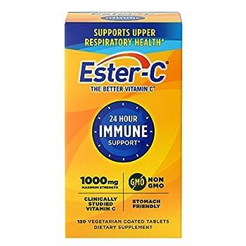 Ester-C Vitamin C 1,000 mg 120 Coated Tablets