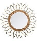 Espejo de ratán de sol afilado D50