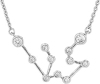 Women's Zodiac Necklace - 'When Stars Align' Constellation Necklace, Silver Plated