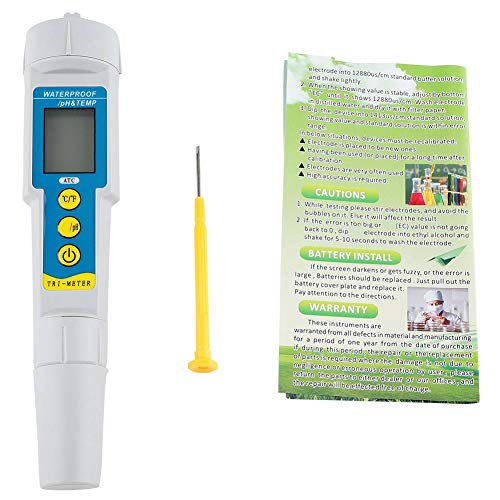 Fydun Waterkwaliteitstester meetinstrument, nauwkeurige en betrouwbare digitale PH/TDS-meetinstrument, aquarium zwembad, hydroponische watermonitor, ideale watertestmeter