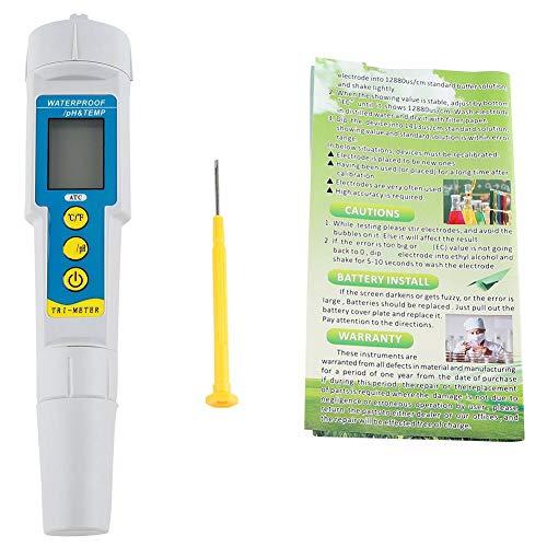 Sheens TDS Meter Digitale Wassertester, Professionelle 3 in 1 TDS PH und Temperaturmesser für Trinkwasser Aquarium Pool Hydroponic Water Monitor (Batterie Nicht enthalten)
