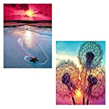 【Product Design】:The most popular DIY decoration,color three-dimensional,easier and more beautiful than cross stitch.The diamond painting kit is easy to realize classic works of art,you will enjoy the fun of making. Experience the feeling of being a ...
