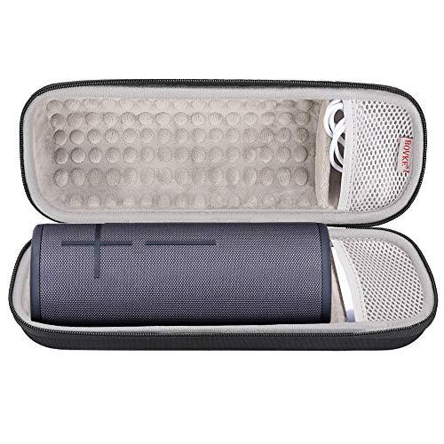 BOVKE Hard Travel Case for Ultimate Ears UE MEGABOOM 3 Portable Bluetooth Wireless Waterproof Speaker EVA Shockproof Protective Carrying Cases Storage Bag, Black