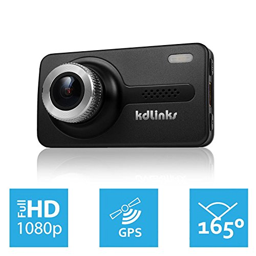 KDLINKS GPS-Enabled Wide Angle Dash Cam
