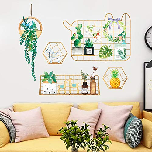 Plant Potted Muurdecoratie Behang Zelfklevend Meisje Hart Slaapkamer Warm Muur Sticker Net Rode Kamer Sticker