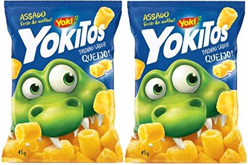 YOKITOS Tubinho National uniform free shipping Sabor Queijo 45 gr. 2 PACK Cheese Max 82% OFF Flavored Cor