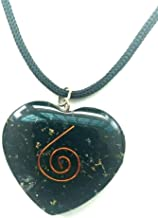 DevDeep Heart Shape Tourmaline Pendant Generator Energy Accumulator EMF Protection TOP A+++ Quality