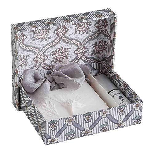 Mathilde M. Decoro de Yeso perfumado con Cinta de Seda Pardo Perfume Marquise Herbier Précieux + 1 Perfume para Ambiente de 5 ml