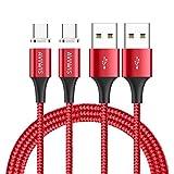 Câble USB Type C Magnétique, AIVWIS [Lot de 2, 1M] Câble USB C Aimanté Charge...