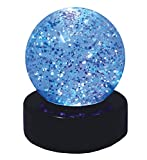 Boule à paillettes avec lumière LED Kuenen 10490
